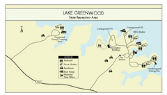 Lake Greenwood State Park Map