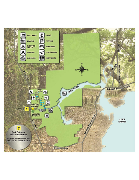 Fullsize Lake Griffin State Park Map