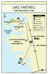 Lake Hartwell State Park Map