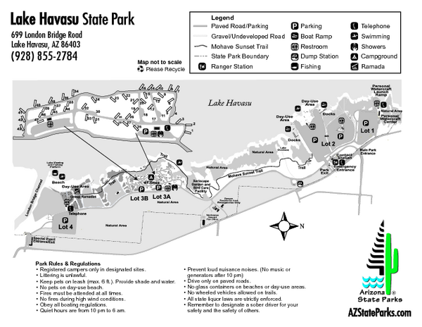 Lake Havasu State Park Map