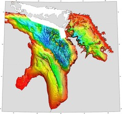 Lake Huron Depths Map