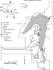 Lake Keomah State Park Map