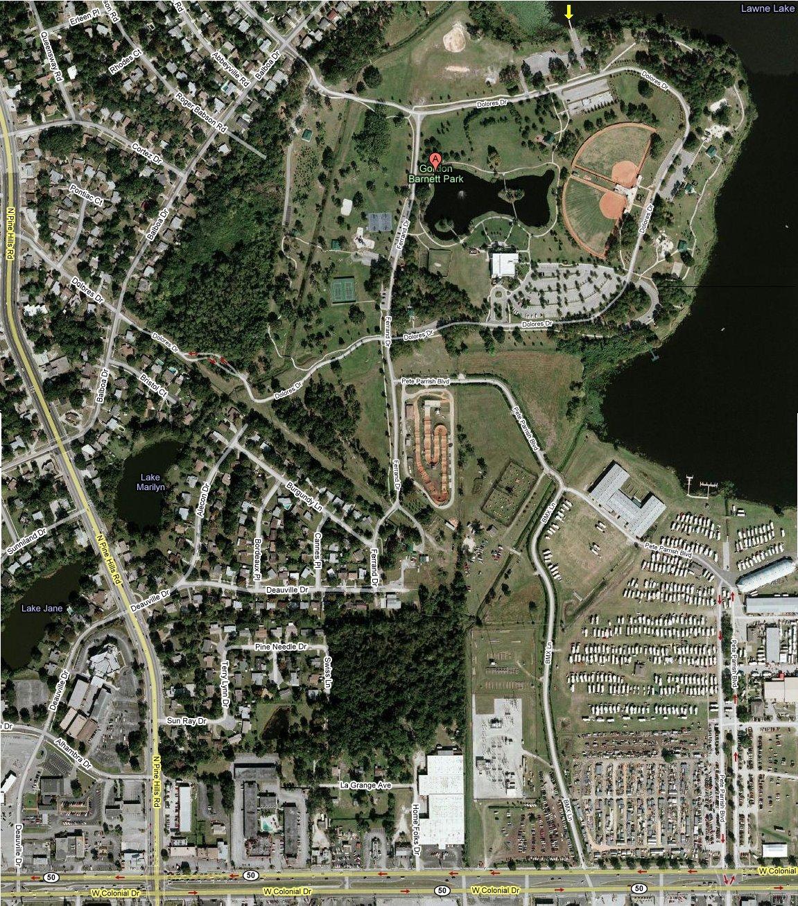 Lake Lawne Satellite Map Lake Lawne Mappery - Google map satellite map