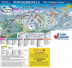 Lake Louise Ski Trail map - Ptarmigan/Paradise...