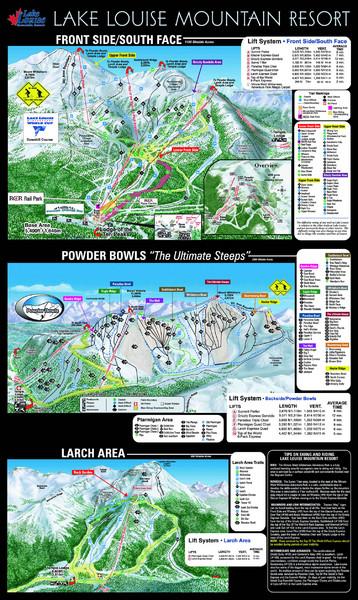 Lake Louise Trail Map - Lake Louise Mountain Alberta Canada • mappery
