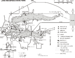 Lake MacBride State Park Map