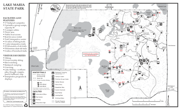 Lake Maria State Park Winter Map