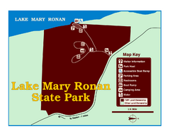 Lake Mary Ronan State Park Map