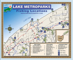 Lake Metroparks Fishing Map