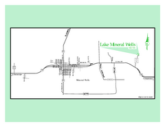 Lake Mineral Wells, Texas State Park Map
