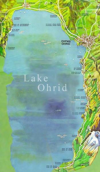 Lake Ohrid Tourist Map