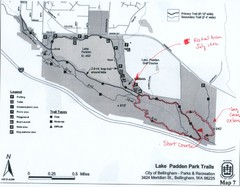 Lake Padden Park Trails Map