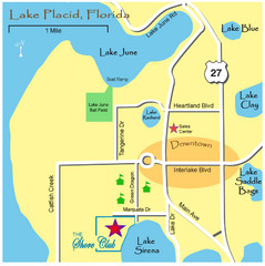 Lake Placide Town Map