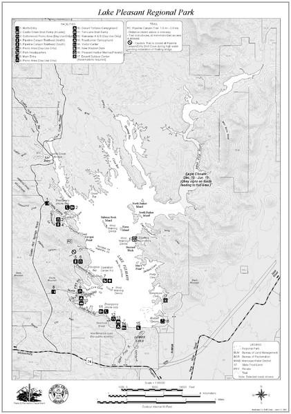 map of lake pleasant Lake Pleasant Regional Park Map Lake Pleasant Arizona Mappery map of lake pleasant