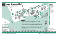 Lake Somerville, Texas - Birch Creek State Park Facility Map