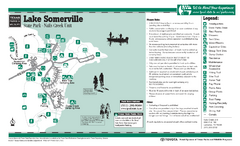 Lake Somerville, Texas - Nails Creek State Park Facility Map