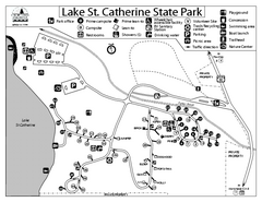 Lake St. Catherine State Park Campground Map
