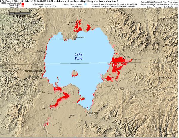Lake Tana Map • mappery