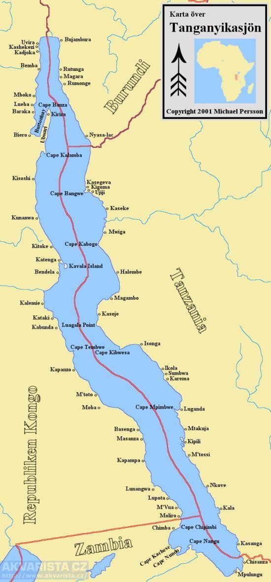 Lake Tanganyika Map - lake tanganyika • mappery