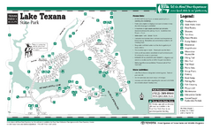 Lake Texana, Texas State Park Facility and Trail Map
