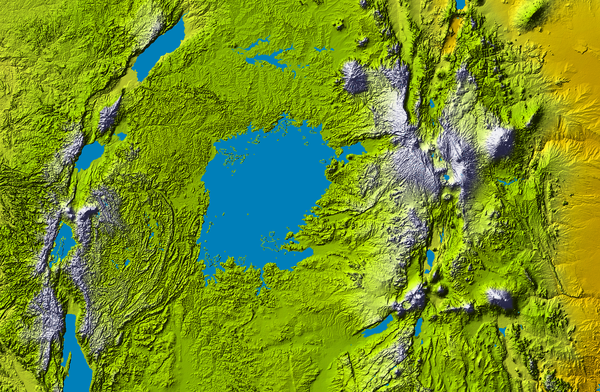 Lake Victoria topography Map