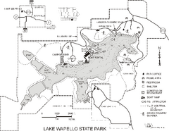 Lake Wapello State Park Map