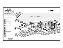 Lake Waramaug State Park campground map