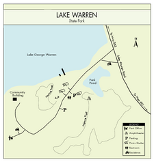 Lake Warren State Park Map