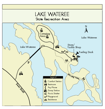 Lake Wateree State Park Map
