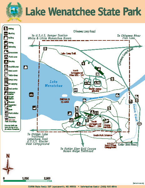 Lake Wenatchee State Park Map 21588 State Route 207