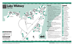 Lake Whitney, Texas State Park Facility and Trail...
