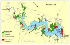 Lake Whitney Tourist Map
