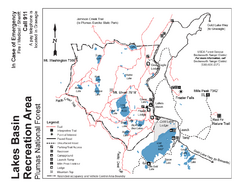 Lakes Basin Recreation Area Trail Map