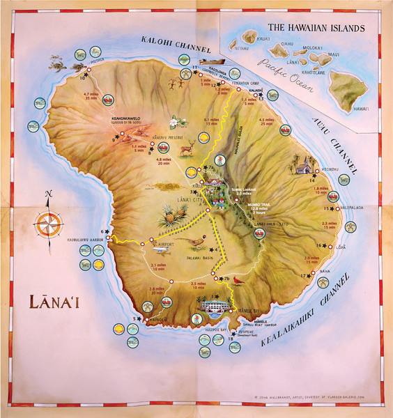 Lanai Map Lanai Hawaii Mappery - Hawaii road map