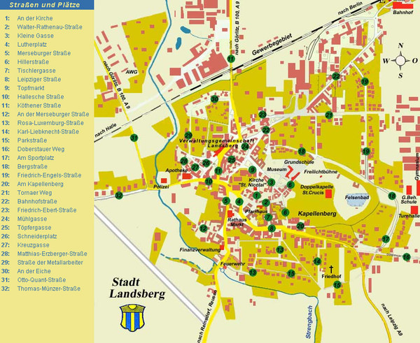 Landsberg Tourist Map Landsberg Germany mappery