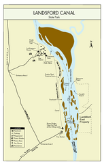 Landsford Canal State Park Map