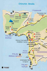Langkawi Tourist Map