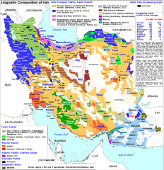 Languages of Iran Map