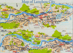 Lanzhou City Tourist Map