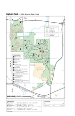 Lapham Peak Map