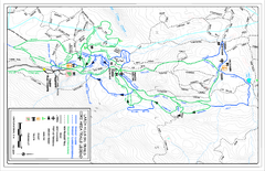 Larch Hills Nordics Core Ski Trail Map