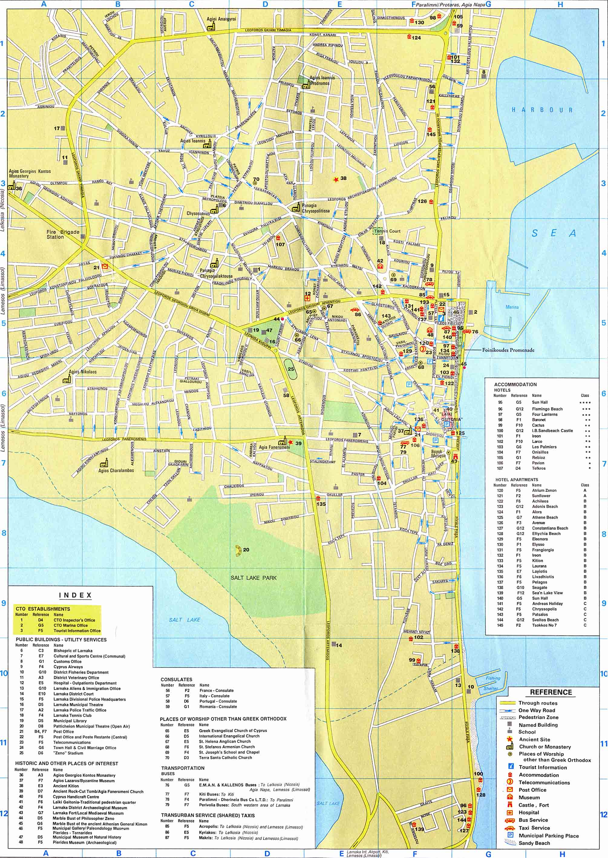 Larnaca tourist map larnaca cyprus mappery gumiabroncs Image collections