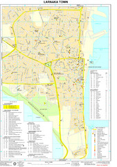 Larnaka Tourist Map