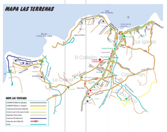 Las Terranas Map