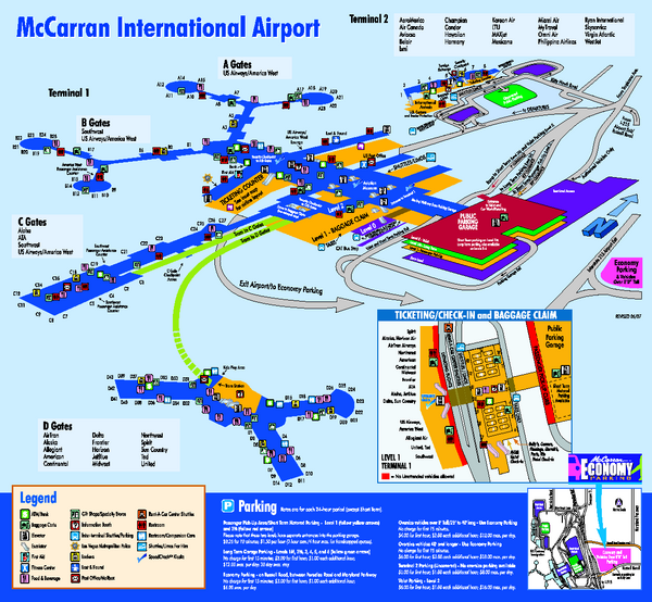 Mccarran Airport Map ~ AFP CV