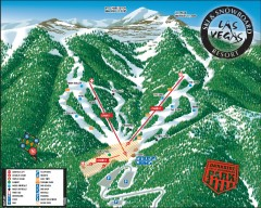 Las Vegas Ski & Snowboard Resort Ski Trail Map