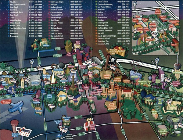 las vegas maps mappery