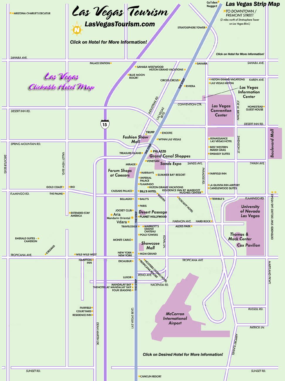 Las Vegas Strip Map  Las Vegas Nv  Mappery