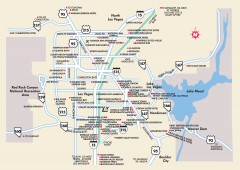 Las Vegas Surrounding Areas, Nevada Map