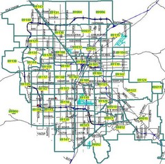 Las Vegas Zip Codes Map
